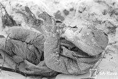 Frozen body of a Soviet soldier after battle of Suomussalmi 1940 during Finnish-Soviet Winter war 1939-1940