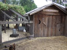 Coop, Chicken, and Goat House Combo goat and chicken house – I need this! I have the chickens, but now I want the goat. Chicken Coop Designs, Chicken Coop Plans, Building A Chicken Coop, Diy Chicken Coop, Farm Chicken, Chicken Feeders, Shed Building Plans, Chicken Tractors, Building Code