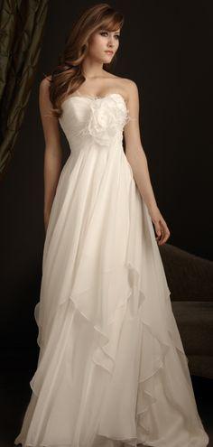 Floral Graceful Maternity Sweetheart Ruching Ruffles Wedding Dress