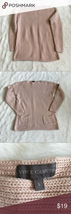 Vince Camuto Blush Pink Thick Knit Sweater Beautiful and super comfy sweater in pre-loved yet good condition. Vince Camuto Sweaters