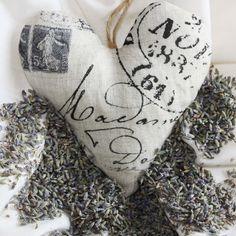 heart lavender pillow