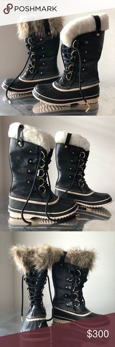 NWT Sorel Joan of Arctic Snow Boots w/ Fur Options ✨💰✨Get UP TO 50% OFF when you make an offer today!😲 ___________  Limited Edition Sorel Joan of Arctic Snow Boots | Size 8 | Waterproof leather | Subtle metallic sheen | Gold accents | Removable felt inner boot w/ shearling cuff | Includes extra inner boot w/ fur cuff  ___________  😧 If it doesn't fit, get 50% off next purchase* | See Fit50 Guarantee listing for details ___________  Give found fashion a forever home.™️ Visit The Foundress…