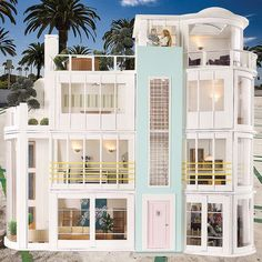 I'm thinking about starting to build and interior decorate dollhouses. Wish I could find a Mt. Vernon kit, but this modern one is super cool.