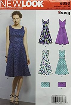 ab059fcebf New Look 6393 Size A Misses  Easy Dress and Purse Sewing Pattern