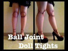 DIY BALL JOINT DOLL TIGHTS (BJD TIGHTS)!!! - YouTube