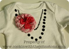 What's Cookin' with the Johnstons: DIY Baby Girl Onesie