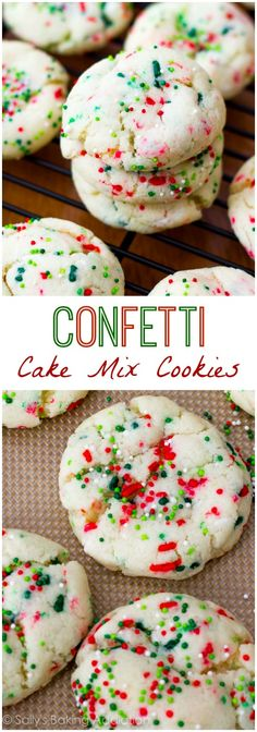 Christmas Funfetti Sugar Cookies by sallysbakingaddic... -- these cookies are ready in only 20 minutes!