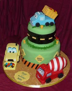 construction cake.. This a lot more LIKE what I'm wanting but still not satisfied yet lol.