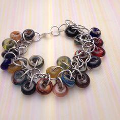 Glass and Aluminum Shaggy Loop Bracelet on Etsy, $30.00 CAD
