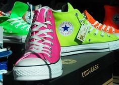 Not sure on what color converse i want to wear for my birthday but has to be neon so more likely pink and i might wear heels but when im dancing i want to wear converse!