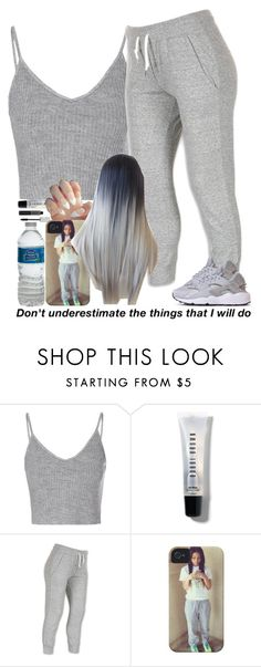 """""""10-25-15"""" by asilversmile ❤ liked on Polyvore featuring Glamorous, Bobbi Brown Cosmetics and NIKE"""
