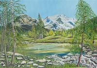 The Art World directory of artists from Switzerland features Swiss artist Annunziata Fiumi-Loosli - Oil Painting, Watercolours and Mixed Media by Annunziata Fiumi-Loosli. Art World, Switzerland, Artists, Watercolor, Mountains, Nature, Travel, Painting, Pen And Wash
