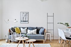 Ikea 'Ranarp' floor lamp in cozy living room
