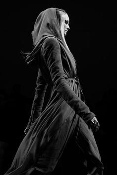 Mirko-Kosmos - dramatic dark hooded post-apocalyptic women's fashion