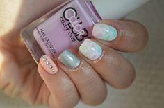 Stripes nail art by Julia
