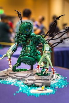 The Madness From the Sea, A Custom Cthulhu Statue Made of 1,400 LEGO Bricks