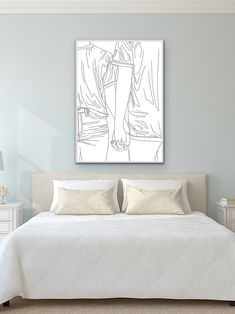 Mature Love, Line Drawing, Modern Art, Colours, Bedroom, Collection, Design, Home Decor, Decoration Home