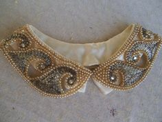beautiful vintage beaded collar on etsy