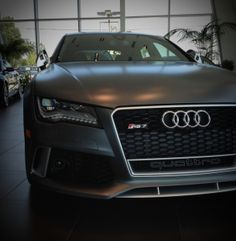 The New Death Star: 2014 Audi RS7 in Matte Daytona Gray at Keyes Audi. Stay tuned this week for more of this wicked beast. www.KeyesAudi.com