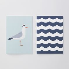 Seaside Seagull Notebooks by Evermade, the perfect gift for Explore more unique gifts in our curated marketplace. Graphic Design Illustration, Illustration Art, Staying Organized, Easy Drawings, Design Elements, Seaside, Print Patterns, Art For Kids, Pattern Design