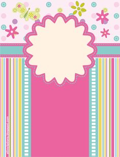Invitación de baby shower Diy And Crafts, Paper Crafts, Borders And Frames, Baby Shower, Binder Covers, Flower Backgrounds, Note Paper, Printable Paper, Name Cards