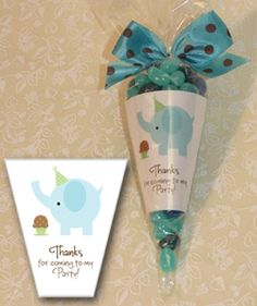 Candy Cone Party Favors Shimmery White Liners with Cute Designs - Announcingit Invitations & Inspiration