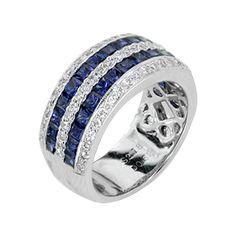 Sapphire and Diamond Ring  Jewelry Type: Rings  Stone: Diamond