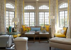 I LOVE the drapes on the widows and the yellows in the room, it feels so welcoming and cozy