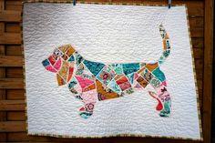 Charly & Ben's Crafty Corner: Ticker Tape Basset Hound - Here's How I made Wilbur in fabric!