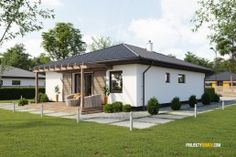 CG images for online house catalogue Casas Containers, My House Plans, Container Design, Home Technology, Architect House, Facade House, House In The Woods, Curb Appeal, Home Projects