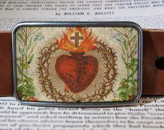 sacred heart belt buckle  211. via Etsy.