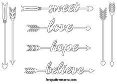 Arrows Printable Outline Cut Template