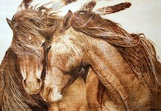 Image result for pyrography horses