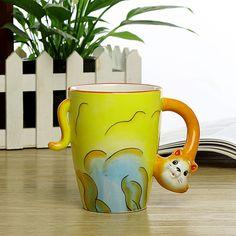 Christmas product 3D lovely animal cermaic mug with handle,coffee mug