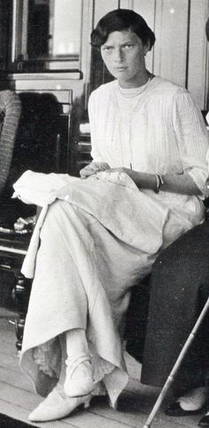 Grand Duchess Tatiana Nikolaevna of Russia onboard the imperial yacht Standart.