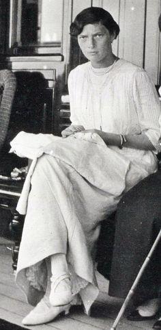 Grand Duchess Tatiana Nikolaevna of Russia onboard the imperial yacht Standart.