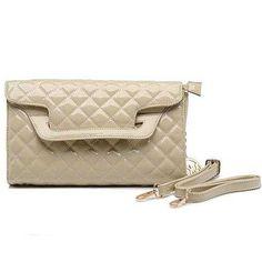 Michael Kors Sloan Quilted Large Ivory Shoulder Bags Outlet - $77.99