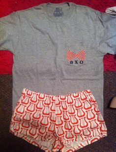 Grey frocket, iron-on letters & bowtie, & LYRE boxers! AXO PJS #axo