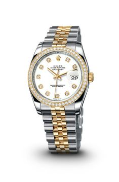 DATEJUST WATCH IN STEEL AND YELLOW GOLD - ROLEX Women's Watches