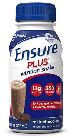 Ensure Plus Nutrition Shake, Milk Chocolate, 8 ounces, 24 count >>> You can get more details by clicking on the image. #MilkandSoyaDrinks
