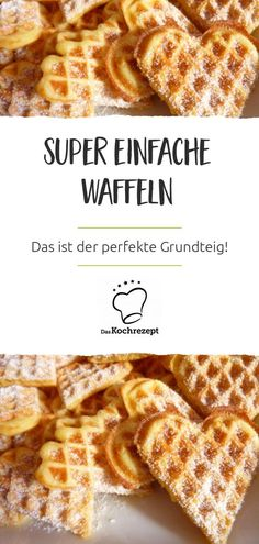 These waffles are super easy - that& really the perfect base dough! - These waffles are super easy – that& really the perfect base dough! Homemade Cake Recipes, Cookie Recipes, Dessert Recipes, Food Cakes, Waffle Americano, Kids Meals, Easy Meals, Crockpot Recipes, Easy Recipes