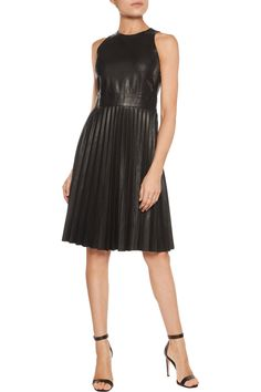 Shop on-sale Iris and Ink Pleated leather dress. Browse other discount designer Dresses & more on The Most Fashionable Fashion Outlet, THE OUTNET.COM