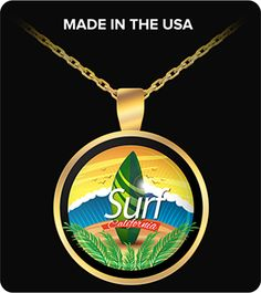 Surf California Surfing Necklace