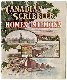 Canada: Homes for the Millions. #vintage #Canada