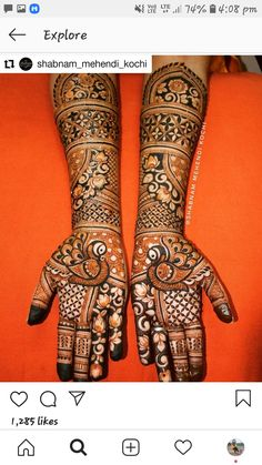Arabic Bridal Mehndi Designs, Mehndi Design Pictures, Henna Art Designs, Mehndi Designs For Fingers, Best Mehndi Designs, Dulhan Mehndi Designs, Mehndi Designs For Hands, Mehandi Designs, Henna Mehndi