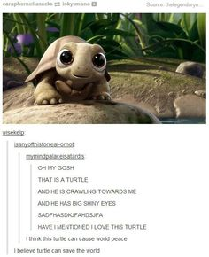 This turtle is from one of the tinkerbell movies. Its so cute:))) << From none of them actually, It's from something else.