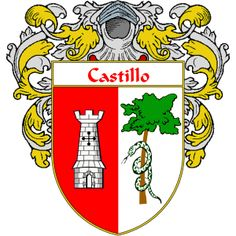 Castillo Coat of Arms   http://spanishcoatofarms.com/ has a wide variety of products with your Hispanic surname with your coat of arms/family crest, flags and national symbols from Mexico, Peurto Rico, Cuba and many more available upon request.