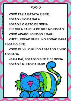 Textos para alfabetização. Portuguese Language, Professor, Literacy, Teaching, Writing, How To Plan, Education, School, Kids