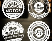 4 Retro Badges - Insignias by Enjoy The Fresh , via Behance