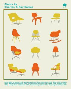 Eames Poster Eames Chair Poster Eames Alphabet by PigeonEditions